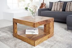 Solid precious wood coffee table GIANT Sheesham Stone Finish - A special c . Metal Dining Table, Glass Table, Dining Chairs, Sofa Set Designs, Large Coffee Tables, Makassar, Apartment Interior Design, Coffee Table Design, Woodworking Furniture
