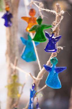 Little sweet glass angel ornament  perfect present by LEDENEglass