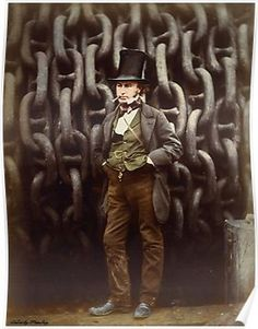 Isambard Kingdom Brunel Standing Before the Launching Chains of the Great Eastern / Robert Howlett / The Metropolitan Museum of Art Releases Images Online for Non Commercial Use photography history black and white Vintage Photographs, Vintage Images, Metropolitan Museum, Celtic, Isambard Kingdom Brunel, Colossal Art, History Of Photography, British History, Way Of Life