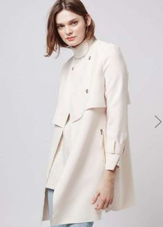 Topshop raw edge coat: http://www.stylemepretty.com/living/2016/03/24/the-cutest-spring-coats-at-every-price/: