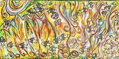 "Abstract Acrylic (18"" x 36"")"