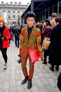 London Fashion Week Menswear Street Style. What a great outfit.....