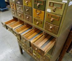Oh how I adore old card catalogs!