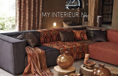 Kobe - Nomad Fabric Collection - A modular corner sofa including burnt orange, dark brown, midnight blue and orange tribal patterned sections, and cushions Air Max Camo, Cheap Air Max 90, Air Max Essential, Modular Corner Sofa, Nike Tights, Nike Headbands, Nike Shoes Cheap, Nike Flyknit, Kobe