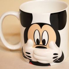 Disney Mickey Mouse & Minnie Mouse Hiding mug pair: