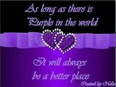 ...purple in the world