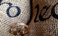 Annamaria Cammilli Dune 18K gold and diamonds ring from Leoro.