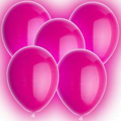 LED Luftballons - Ø 30cm - Heliumballons XL - Pink  3,99€