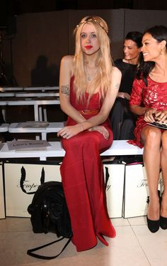 Peaches Geldof Photos: Celebrities On The Front Row at London Fashion Week Spring/Summer 2012