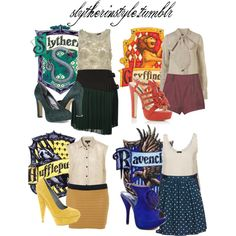 A fashion look from January 2011 featuring topshop tops, button back top and floral miniskirts. Browse and shop related looks. Harry Potter Style, Harry Potter Room, Harry Potter Houses, Harry Potter Outfits, Harry Potter Pictures, Hogwarts Houses, Maquillage Harry Potter, Harry Potter Accessories, Fandom Outfits