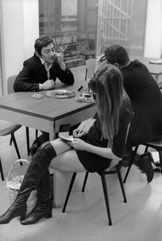 Gainsbourg and Birkin by Herman Selleslags, 1960's