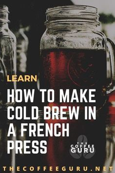 Summer is a perfect time for cold brew coffee, if you own a French press coffee maker, let's make some cold brew! #howtomakecoldbrewinaFrenchpress #howtomakecoldbrewcoffeefrenchpress #howtomakecoldbrew Best Cold Brew Coffee, Cold Brew Coffee Recipe, Best Coffee Maker, French Press Coffee Maker, Coffee Brewing Methods, Cold Drip, Coffee Today, Coffee Health Benefits, Coffee Type