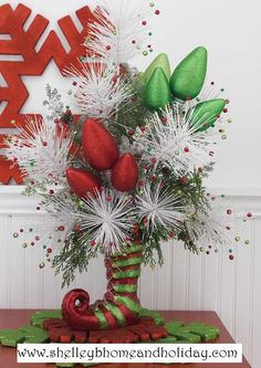 whimsical christmas floral arrangements - Google Search