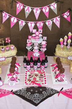 The cutest cowgirl birthday party ever! Free printables to go with.