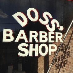#DossBarberShop #type #typography #sign #signage  #handpainted #handlettered #handpaintedtype