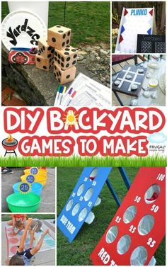 Backyard games 168603579789161328 - Hosting an outdoor gathering? Want to make your yard the summer attraction for the neighborhood? These DIY Backyard Games are the perfect outdoor ideas for kids and adults, day or night! Source by fclash Backyard Games Kids, Diy Yard Games, Water Games For Kids, Backyard Camping, Outdoor Activities For Kids, Fun Activities, Diy Games, Backyard Ideas For Kids, Backyard Playground