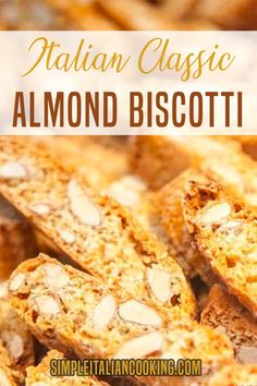 recipes for a crowd full house Italian Classic Almond Biscotti Recipe! Almond Biscotti Recipe Italian, Best Biscotti Recipe, Lemon Biscotti, Biscotti Cookies, Cookie Recipes, Dessert Recipes, Scone Recipes, Easter Recipes, Holiday Recipes