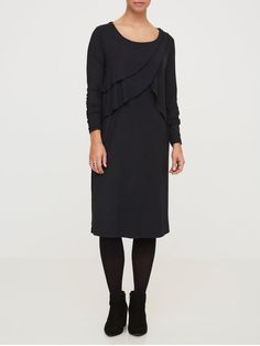 £26 - JERSEY NURSING DRESS, Black, large