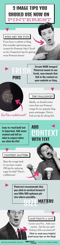 Pinterest Image Tips - 3 Important Things You Need to Know [Infographic] #PinterestImage #PinterestTips #Infographic