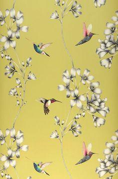 Gesine | Romantic wallpaper | Wallpaper patterns | Wallpaper from the 70s Glamour Wallpaper, Fabric Wallpaper, Flower Wallpaper, Pattern Wallpaper, Black Wallpaper, Acrylic Artwork, Asian Decor, Wall Art Designs, Paper Background