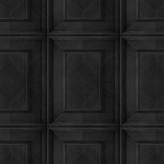 Charcoal Dutch Inlay Panelling Wallpaper- A softer take on formal panelling, it nevertheless recalls the opulence of the Great Masters. Pose for your own portrait in front of this impact-making background. Available in Bleached or Charcoal.