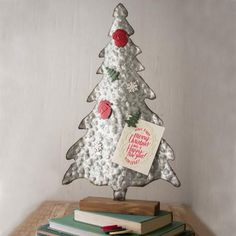 """Metal Christmas Tree With Six Magnets Product Dimensions: 14"""" x 24.5""""t #christmastreedecoration"""