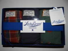 Lucky Brand Men's 100% Cotton Set of 3 Woven Boxers Size: S (28-30) New in box #LuckyBrand #Boxers