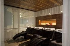 Love the bed chairs and thr dim lighting for ultimate relaxation