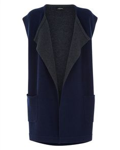 Double-Faced Wool and Cashmere Gilet