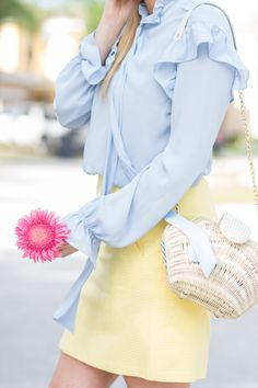 Jeffrey Campbell Perpetua Mules | Preppy Spring Outfit | Spring Fashion | How to wear mules | pastel outfit