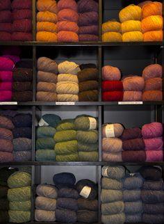 Yarn shop on Laugavegur in Reykjavík, Iceland
