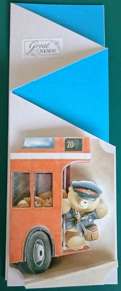 Handmade 3D Concertina Greeting Card  Great News by BavsCrafts