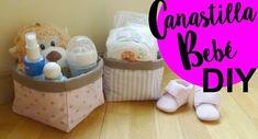 En el vídeo de esta semana vamos a hacer canastillas de bebe. Son cestas de tela, reversibles y enguatadas para que al mismo tiempo que están rígidas son blanditas y amorosas. Tienen unas medidas estandar para guardar todo lo necesario para el día a día d. Diy, Tutorial, Tuto,