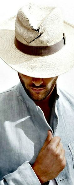 04b8c0ae7bc Vacation Look  Weathered Panama Hat and five o clock shadow Sharp Dressed  Man