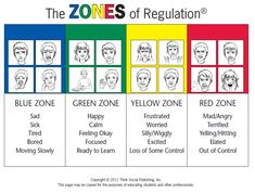 Zones of Regulation - learning the color zones and what they mean could help to describe feelings using a color vs. a description.