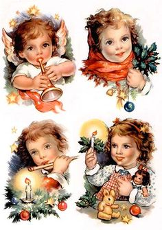 Christmas Scenes, Christmas Angels, Christmas Crafts, Christmas Ornaments, All Things Christmas, Xmas, Decoupage Printables, Printable Crafts, Christmas Printables