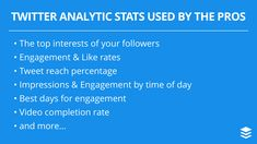 Most Useful Twitter Analytic Stats Used by The Pros
