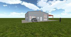 3D #architecture via @themuellerinc http://ift.tt/2xSHeDE #barn #workshop #greenhouse #garage #DIY