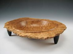 Brown Mallee Burl Bowl by 3DWoodturning on Etsy, $135.00
