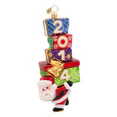 Christopher Radko Ornaments 2014 | Radko Santa Ornament Carry in the Year