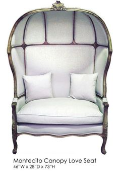 Montecito Canopy Love Seat | Town u0026 Country Event Rentals  sc 1 st  Pinterest & Wicker Canopy Chair: PERCH. | ???????? ?????? | Pinterest | Canopy