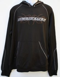 Lingenfelter Tribal Logo Black Hoodie w/ White Stitching Detail - Lingenfelter Performance. #Lingenfelter (260) 724-2552 www.lingenfelter.com  We have sizes small, medium and 2XL in stock.  #Trending today #Detroit #Motorcity