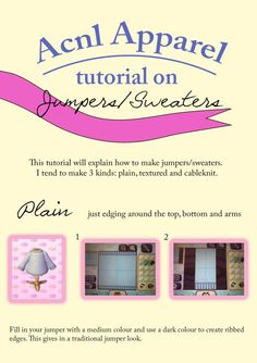 ACNL Jumper/Sweater Tutorial