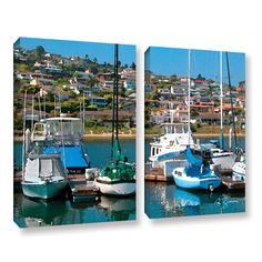 Point Loma, San Diego by George Zucconi 2 Piece Gallery-Wrapped Canvas Set