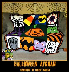 Get started on this Halloween crochet pattern and make your home rock this Halloween! The Halloween afghan pattern includes graph and row by row written word counts so no more counting little squares! Click through to see more Halloween crochet patterns Halloween Blanket, Halloween Fun, Holidays Halloween, C2c Crochet, Free Crochet, Crochet Afghans, Crochet Gifts, Halloween Crochet Patterns, Crochet Ideas