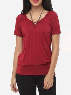 Plain Designed Round Neck Short-sleeve-t-shirts