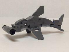 Hammerhead Shark - New Ideas Lego Mecha, Robot Lego, Lego Bionicle, Lego Batman, Shark Lego, Lego Dinosaur, Lego Fish, Legos, Lego Dragon