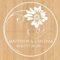 Wedding Dance Floor Decals Always Yours by WicksnCandlesticks, $25.00