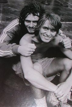 Mark Owen and Howard Donald! I liked Howard first, but then he kissed a fan on News round and I cried so I stopped liking him and liked Mark Owen instead! I was fickle as a teenage girl! What can I say!