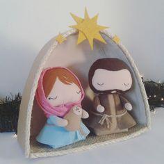 Felt Christmas, Xmas, Christmas Ornaments, Nativity, Holiday Decor, Robot, Angel, Country, Christmas Angels